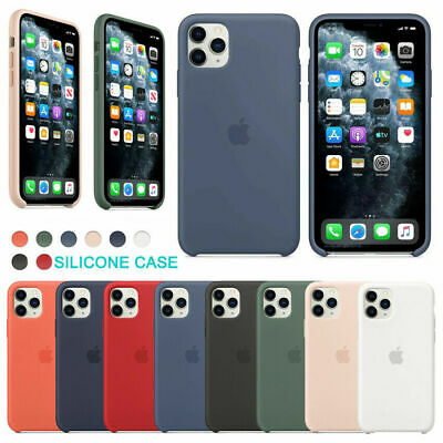 Original Silicona Genuina Case Funda Para iPhone 7 8 6S Plus X XR XS 11 Pro Max