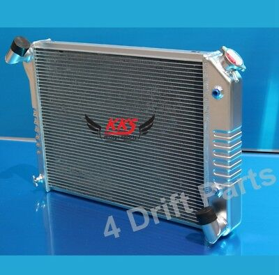 POLISHED KKS 3 ROWS CORE ALUMINUM RADIATOR 1966-68 Chevy Corvette 7.0L Stamped