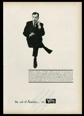 1960 Shelley Berman photo Verve Records vintage print ad