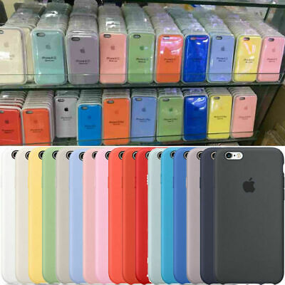 Original Silicona Genuina Case Funda Para iPhone X XR XS Max 6 6S 7 8 Plus Cover