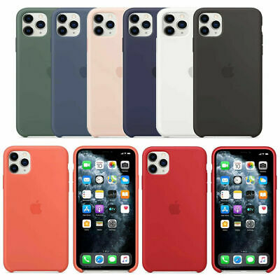 Original Silicona Genuina Case Funda Para iPhone 6s 8 7 Plus XR XS 11 Pro Max