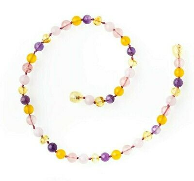 Amber Necklace - Rainbow delight