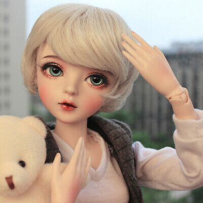 FULL SET 1/3 BJD Doll Fashion Girl + Removable Eyes + Wigs + Makeup + Clothes