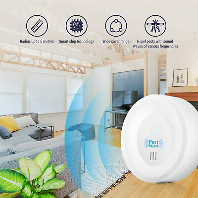 Electronic Ultrasonic Pest Reject/Mosquito/Cockroach Mice Killer Repeller white*