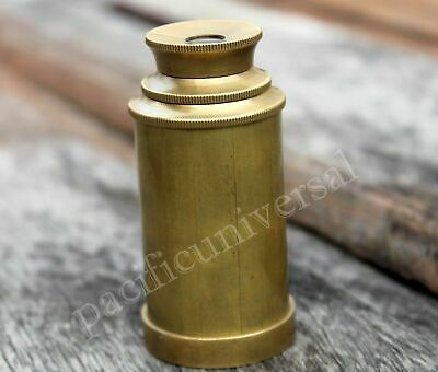 Nautical Brass Telescope Vintage Navigational Pocket Marine Handmade Gift 6""
