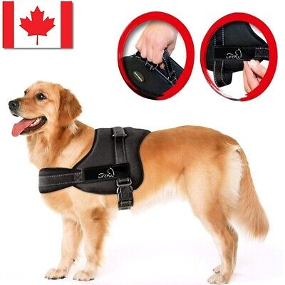 Dog Harness Walk No Pull Vest tactical Heavy Duty Handle collar Service Patch