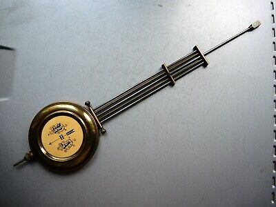 Antique GERMAN WALL CLOCK BRASS metal Pendulum Gustav Becker Junghans HAC Parts