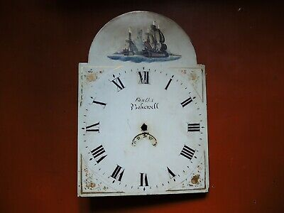 Antique Tall Case Grandfather Clock METAL DIAL for PARTS Restore Gustav Becker