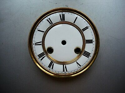 Antique German wall clock Gustav Becker JUNGHANS two part Porcelain DIAL Mount D