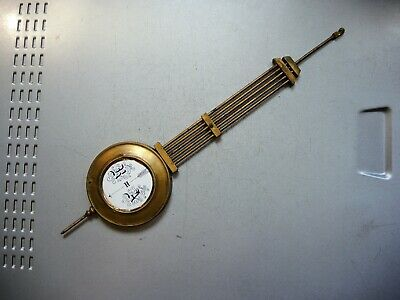 Antique GERMAN CLOCK BRASS metal Porcelain Pendulum Junghans Gustav Becker Parts