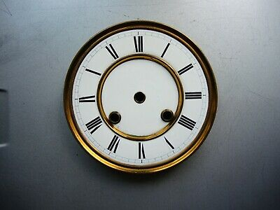 Antique German wall clock JUNGHANS two part Porcelain DIAL Mount Gustav Becker a