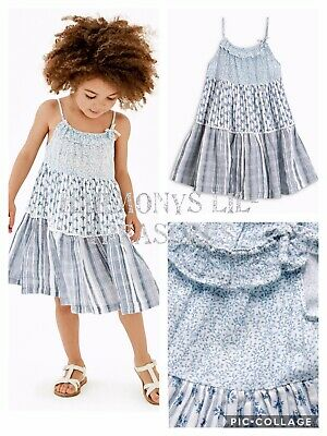 BNWT Girls NEXT BLUE/WHITE CHECK SUMMER DRESS. AGE 2/3 YEARS