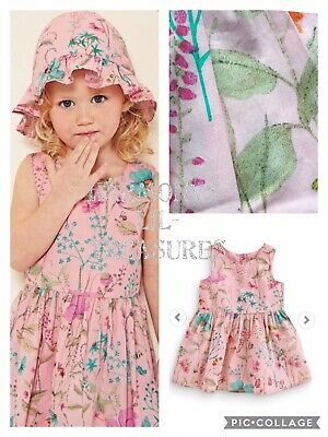 BNWT Girls NEXT FLORAL/MEADOW FLOWERS SUMMER  DRESS AGE 2/3 YEARS