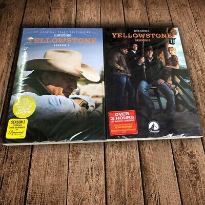 Yellowstone(1 & 2)  TV Series Complete First & Second Season 1-2 DVD First Class