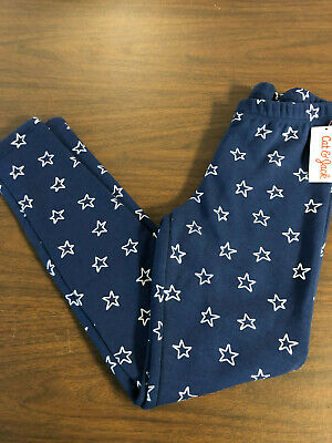 Girl's Cat & Jack Legging's Navy with Silver Stars Size L (10/12)