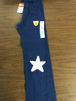 Cat & Jack Girl's Navy Leggings With Silver Star Size M (7/8)