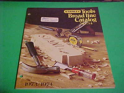 Stanley Tools Broad Line Catalog No. 34 1973/1974  Excellent With 96 Pages