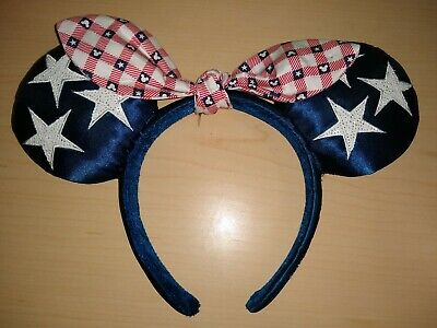 Disney Parks Mickey Minnie Mouse Americana All American Girl Ears Headband