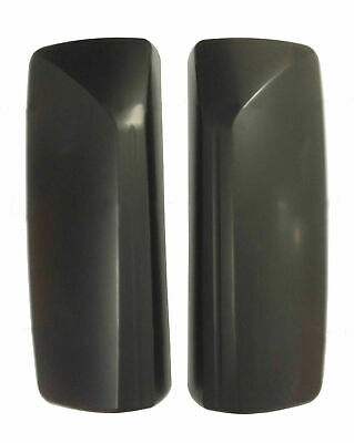 Door Mirror Matte Black Cover w Curved Back Pair Left Right for 04-18 Volvo VNL