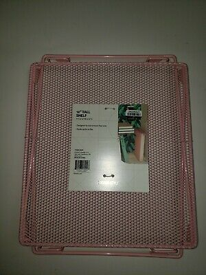 Locker Style 12 inch pink Folding Storage Metal Wire Mesh Stackable School Shelf