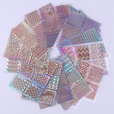 24 Sheets Nail Art Transfer Stickers 3D Manicure Tips Decal DIY Decoration Tools