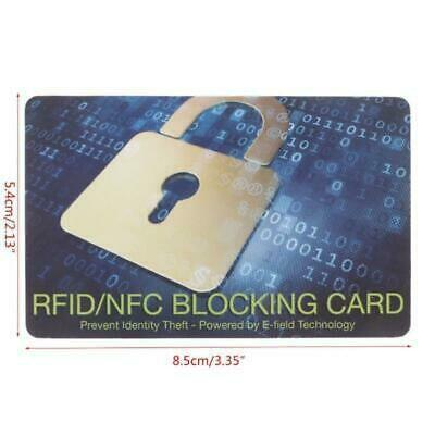 Credit Card Protector RFID Blocking NFC Signals Shield Secure For Purse