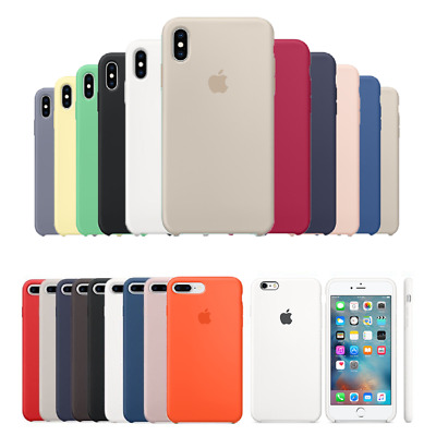 Originale Silicone Sottile Custodia Cover Per iPhone XS XR Max 8 7 6S 6 Plus
