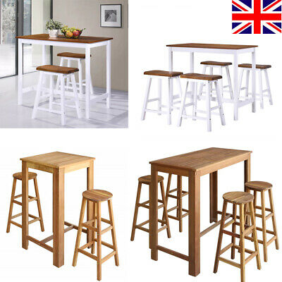 Kitchen Bar Table and Stools Set Breakfast Dining Table Party Table Coffee Table