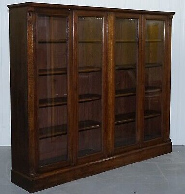 A Victorian Mahogany Double Glazed Door Bookcase