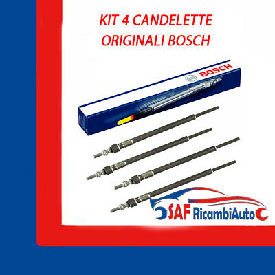 KIT 4 CANDELETTE RENAULT CLIO II 1.5 DCI 50KW 68CV 2008 /> GN018