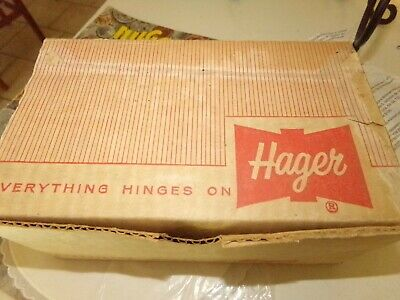 Vintage Hager Solid Steel Brass Coated 3/8th HINGE'S (10 PAIR) New Sealed