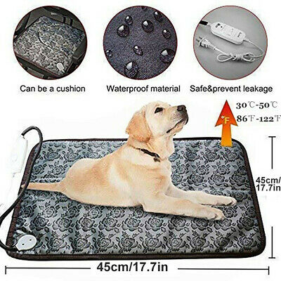 Adjustable Heating Pad For Dog Cat Puppy Pet Electric Warm Mat Bed Waterproof Z