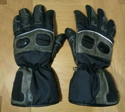 Size L. Men's Hunter Class Thinsulate Motorbike / Motorcycle Black Gloves