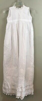 """Antique Lace Pin Tucked Beautiful Christening Gown~ 37"""""""