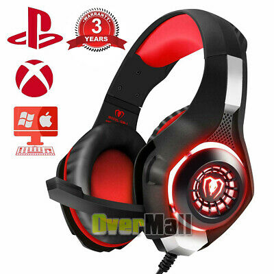 Pro Light Up Gaming Headset Gamers Headphones XBOX One, PS4 With Microphone Best