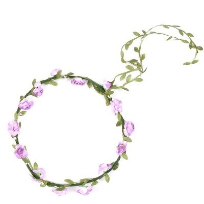 LILAC ROSE FLOWER CROWN Girls Festival Summer Hippy Party Rave Concert Headpiece