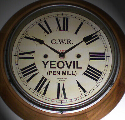 Great Western Railway GWR Victorian Style Wooden Clock, Yeovil Station