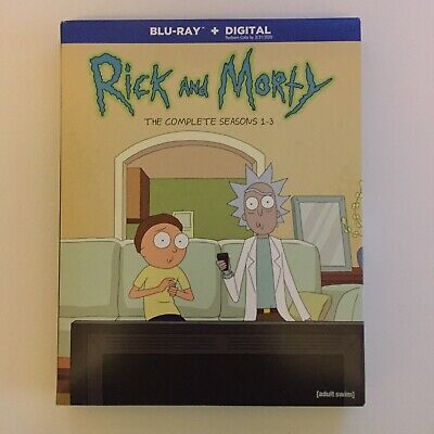 rick and morty the complete series season 1-3 blu ray