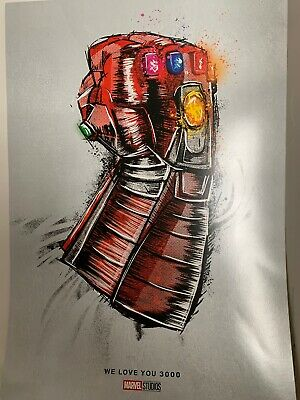 Exclusive Avengers Endgame We Love You 3000 Movie Poster 13x19 From Theatres
