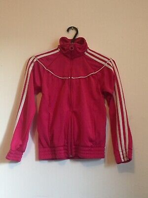 Girls Pink Adidas Jacket, Age 7-8 Years