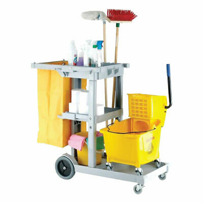 NEW! Multipurpose Janitorial Trolley Grey 101272
