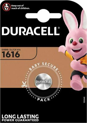 1 X Duracell CR1616 3V Lithium Button Battery Coin Cell DL/CR 1616 Expiry 2028