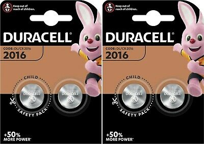 4 x Duracell CR2016 3V Lithium Button Battery Coin Cell DL/CR 2016 Expiry 2028