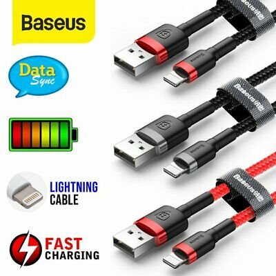Baseus USB Lightning Charger Cable Data Cord for Apple iPhone iPad 0.5M 1M 2M