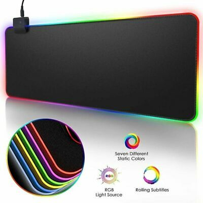Mouse Pad Rgb Gaming Large Gamer Led Computer Mousepad Big Mat Backlight Laptop