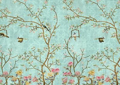 252204 Little Flowers & Birds Flower Bird Floral  WALL PRINT POSTER DE