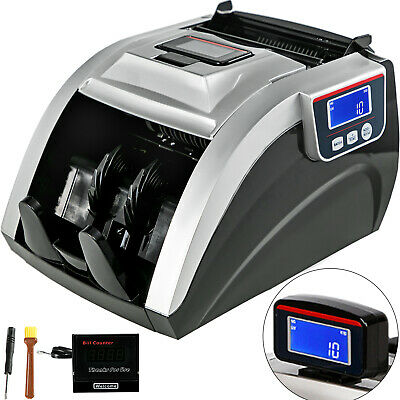 Money Counting Machine Bill Cash Counter UV MG MT IR DD Concealable Dual LCD 08A