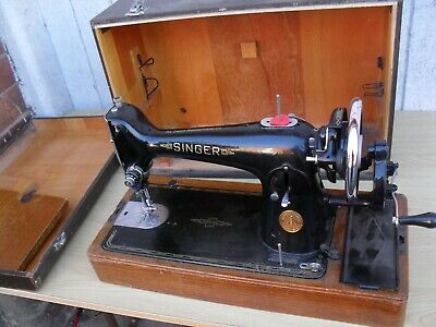 vintage singer hand cranked sewing machine with extras coventry