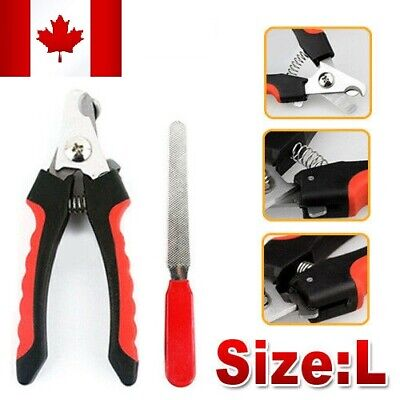 Large Dog Pet Cat Heavy Duty Grooming Toe Nail Clippers Grinder Set Trimmer Tool