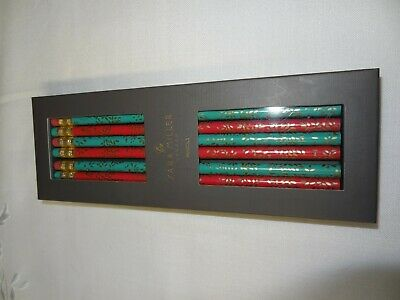 SARA MILLER London - Boxed Pencil Set - Green/Red with Erasers Stationery